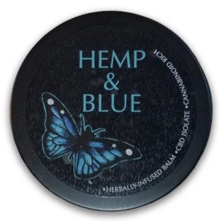 Hemp And Blue Balm 2oz Tin SKU number 752830612068
