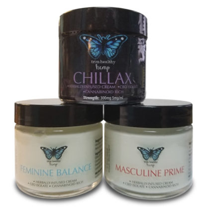 One Hempy Family Cream 3 2oz Jar Combo Pack (Feminine Balance, Chillax and Masculine Prime) SKU number 1FB1MP1CHCRM