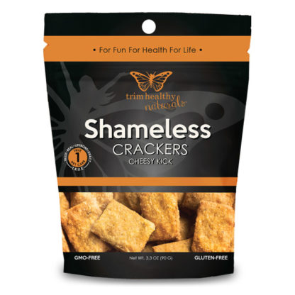 Image of THN Shameless Crackers: Cheesy Kick 3.3oz SKU# SC-CHSYKIK 600x600 pixels